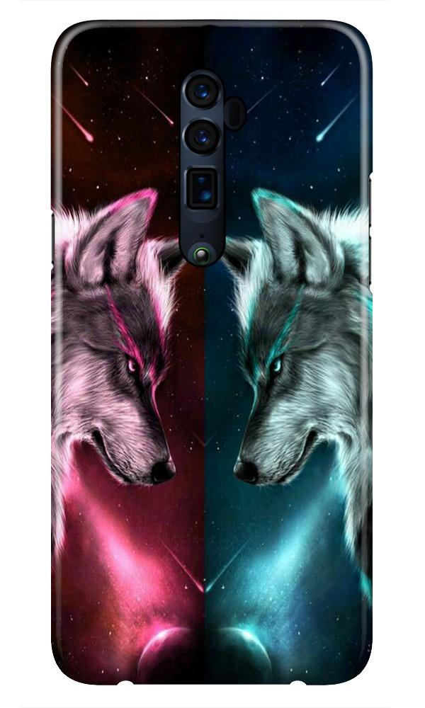 Wolf fight Case for Oppo Reno 10X Zoom (Design No. 221)