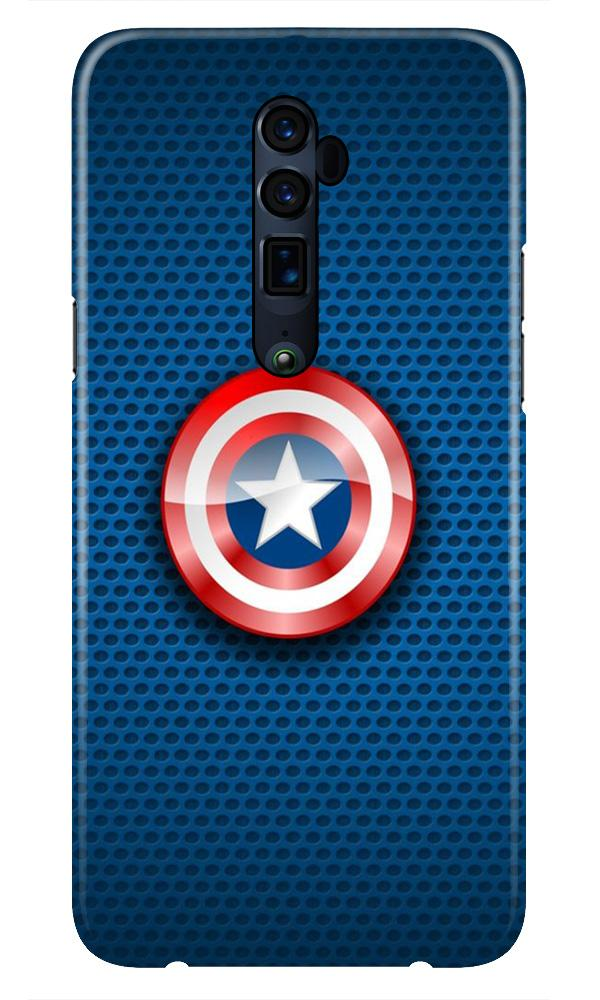Captain America Shield Case for Oppo Reno 10X Zoom (Design No. 253)