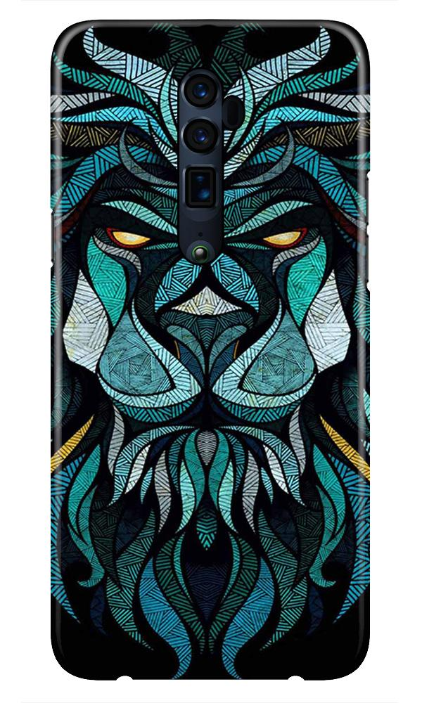 Lion Mobile Back Case for Oppo Reno 10X Zoom  (Design - 314)