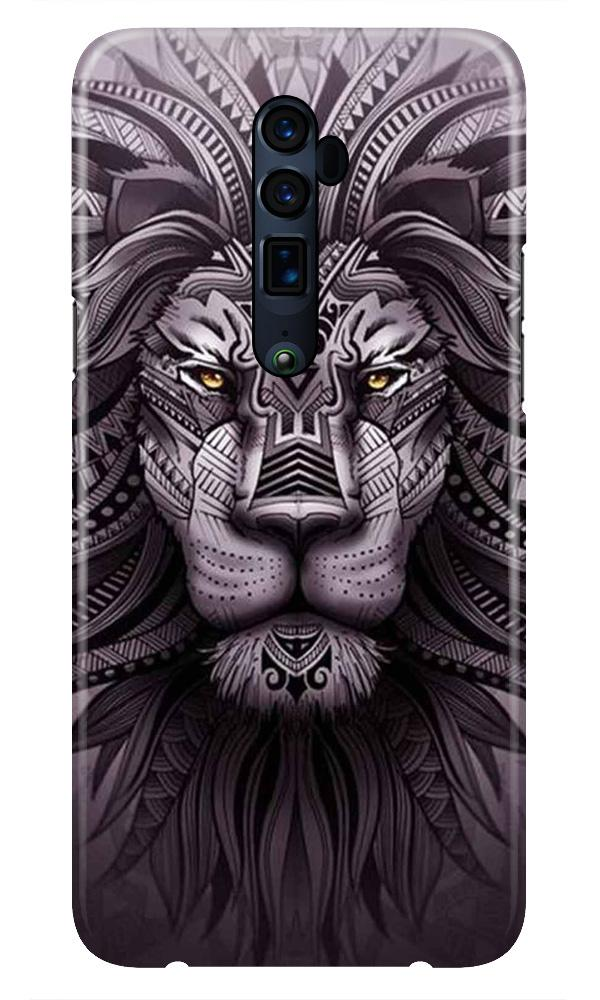 Lion Mobile Back Case for Oppo Reno 10X Zoom  (Design - 315)