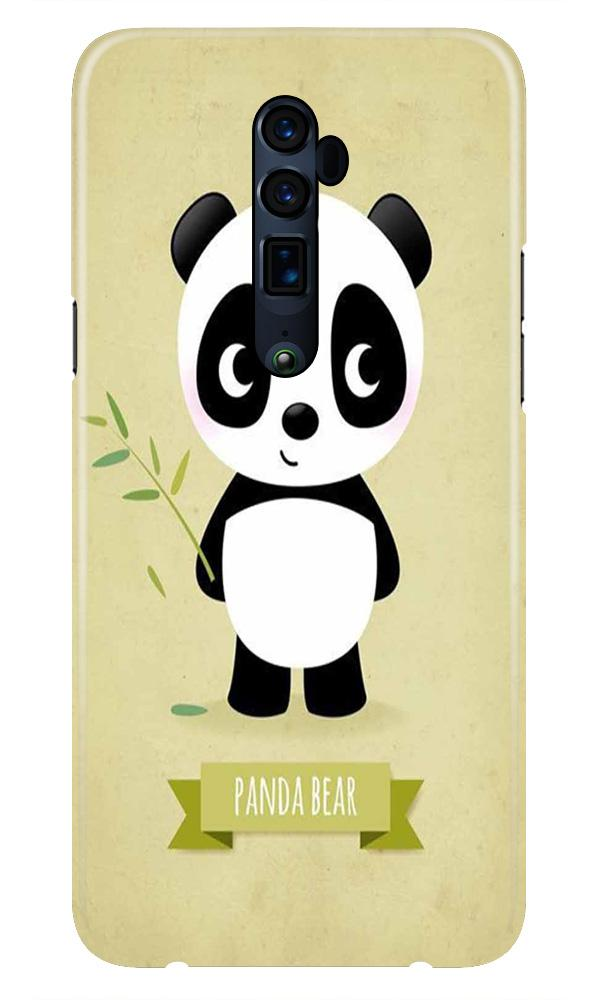 Panda Bear Mobile Back Case for Oppo Reno 10X Zoom  (Design - 317)