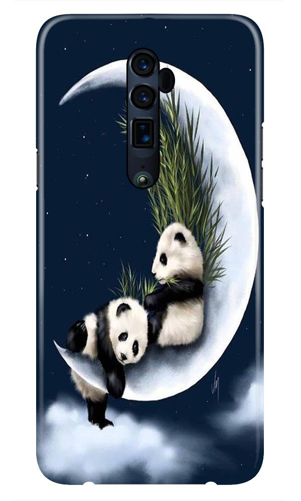Panda Moon Mobile Back Case for Oppo Reno 10X Zoom  (Design - 318)