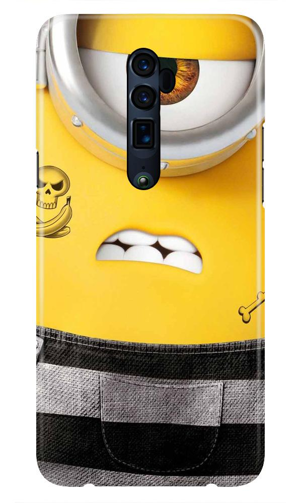 Minion Mobile Back Case for Oppo Reno 10X Zoom  (Design - 324)