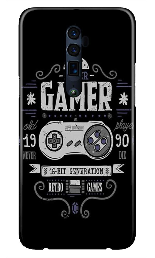 Gamer Mobile Back Case for Oppo Reno 10X Zoom  (Design - 330)