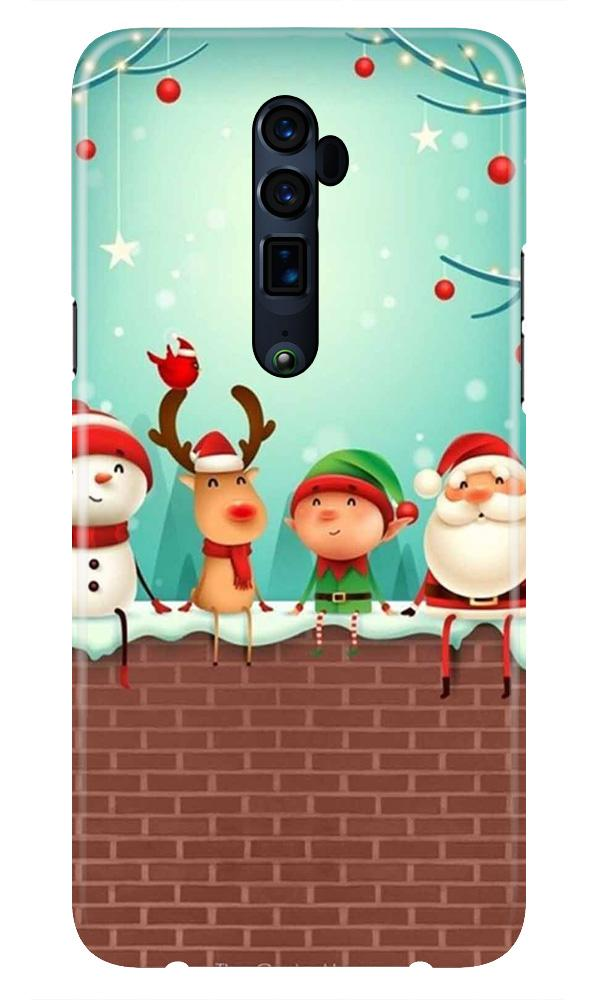 Santa Claus Mobile Back Case for Oppo Reno 10X Zoom  (Design - 334)