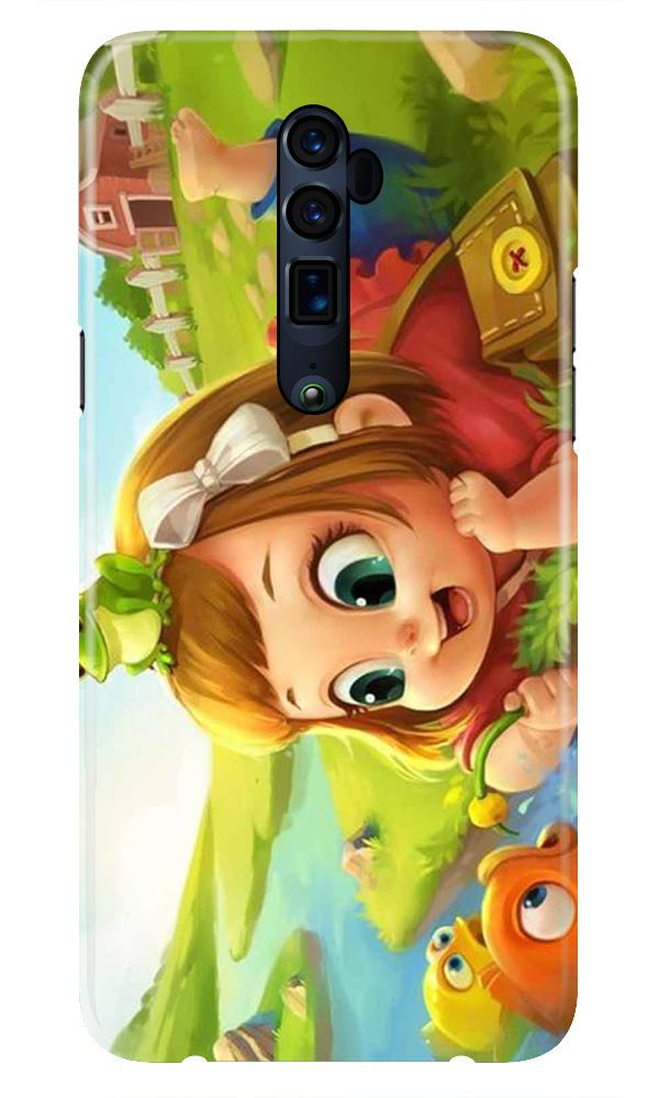Baby Girl Mobile Back Case for Oppo Reno 10X Zoom  (Design - 339)