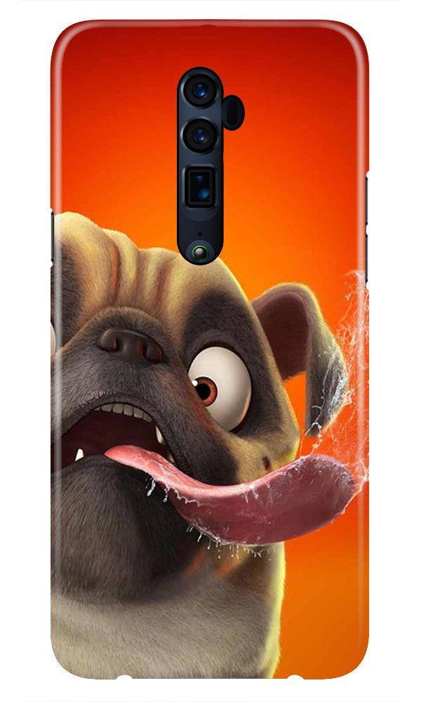 Dog Mobile Back Case for Oppo Reno 10X Zoom  (Design - 343)