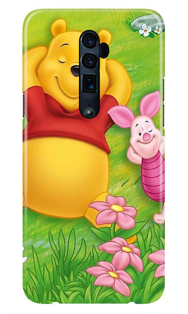 Winnie The Pooh Mobile Back Case for Oppo Reno 10X Zoom  (Design - 348)
