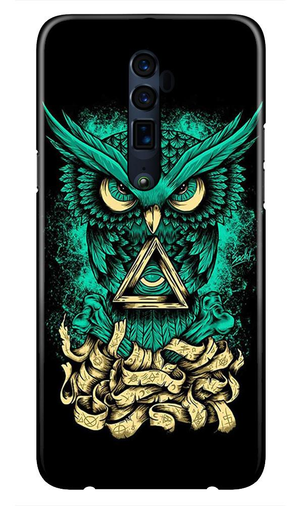 Owl Mobile Back Case for Oppo Reno 10X Zoom  (Design - 358)