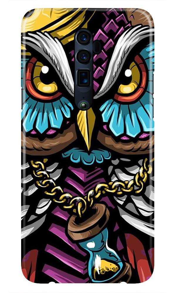 Owl Mobile Back Case for Oppo Reno 10X Zoom  (Design - 359)