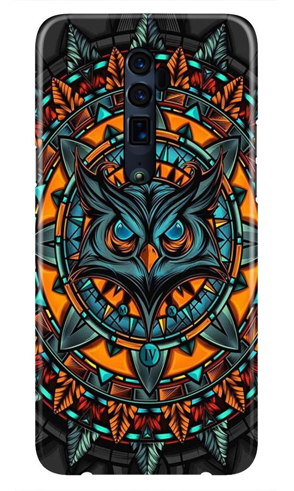 Owl Mobile Back Case for Oppo Reno 10X Zoom  (Design - 360)