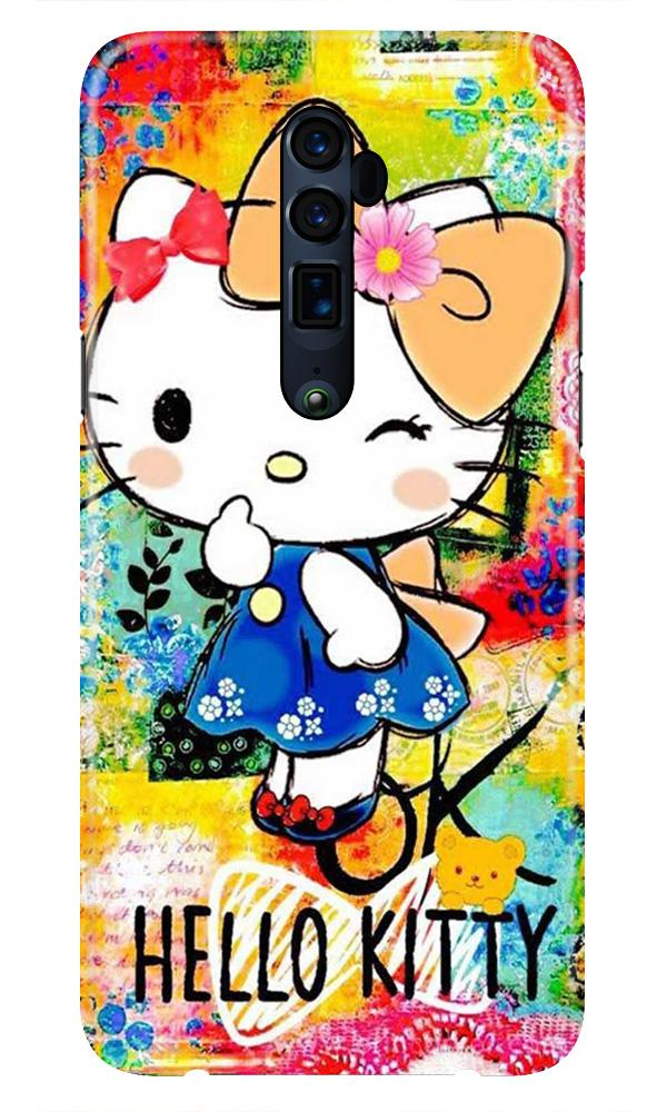 Hello Kitty Mobile Back Case for Oppo Reno 10X Zoom  (Design - 362)