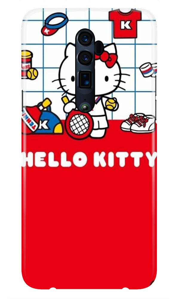Hello Kitty Mobile Back Case for Oppo Reno 10X Zoom  (Design - 363)