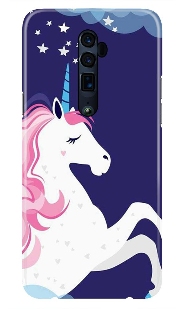 Unicorn Mobile Back Case for Oppo Reno 10X Zoom  (Design - 365)