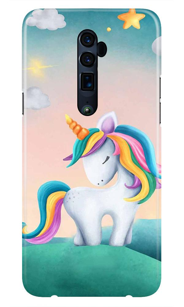 Unicorn Mobile Back Case for Oppo Reno 10X Zoom  (Design - 366)