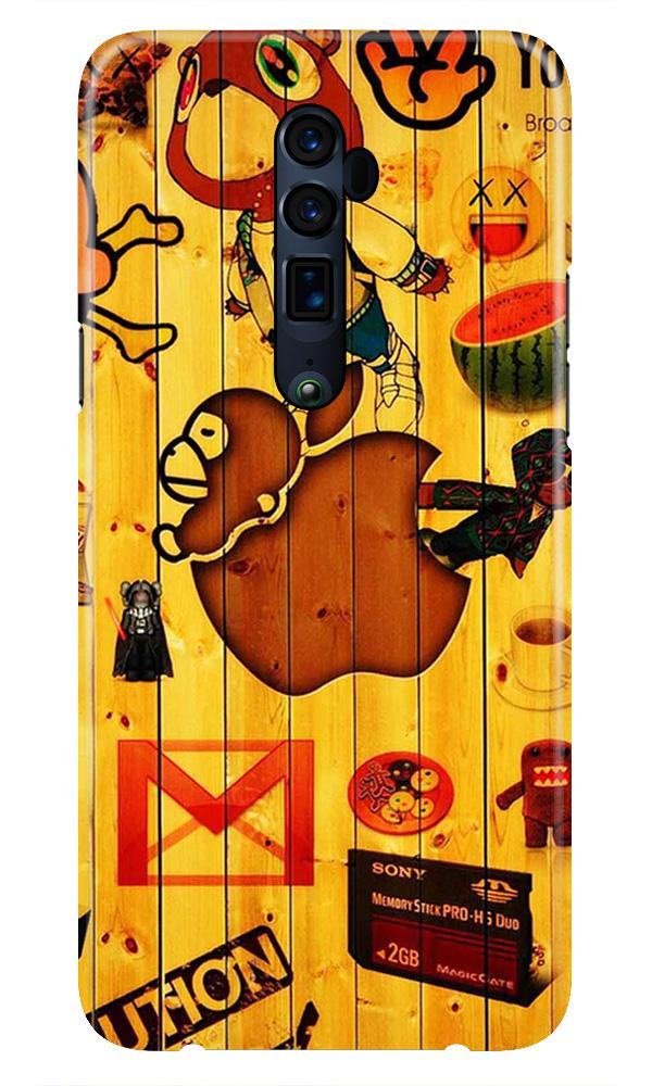 Wooden Texture Mobile Back Case for Oppo Reno 10X Zoom  (Design - 367)