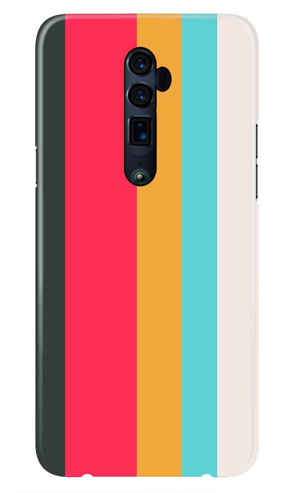 Color Pattern Mobile Back Case for Oppo Reno 10X Zoom  (Design - 369)