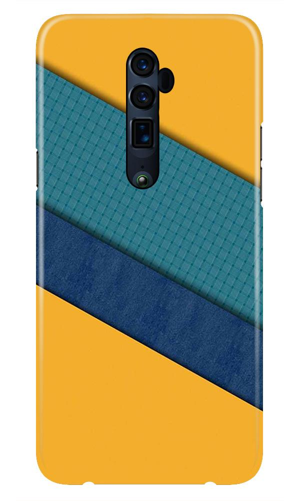 Diagonal Pattern Mobile Back Case for Oppo Reno 10X Zoom  (Design - 370)