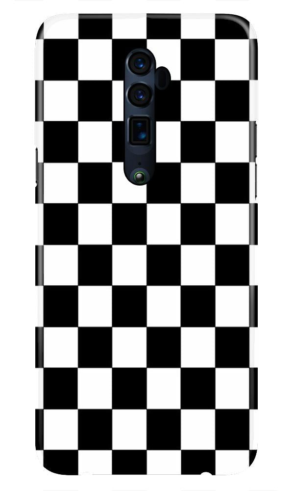 Black White Boxes Mobile Back Case for Oppo Reno 10X Zoom  (Design - 372)