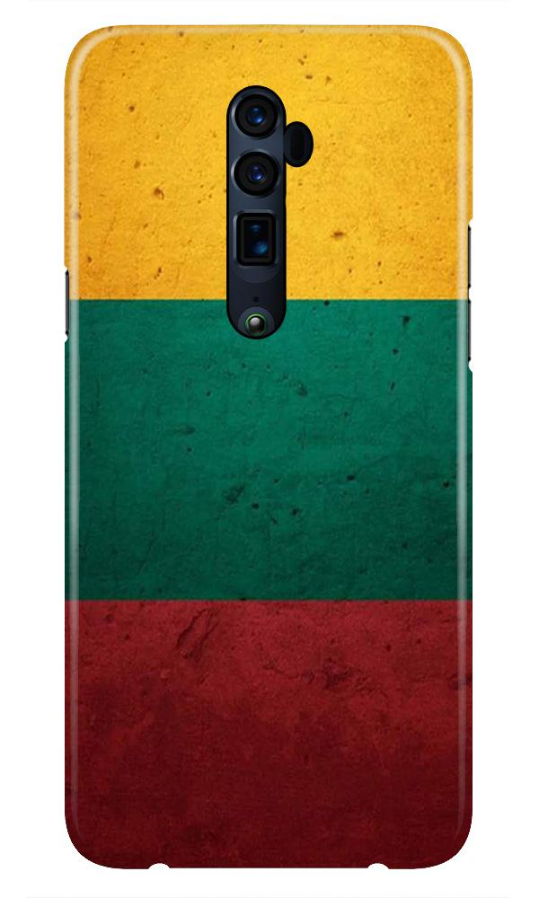 Color Pattern Mobile Back Case for Oppo Reno 10X Zoom  (Design - 374)