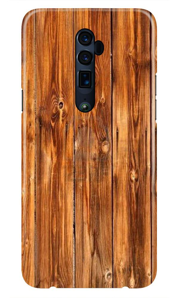 Wooden Texture Mobile Back Case for Oppo Reno 10X Zoom  (Design - 376)