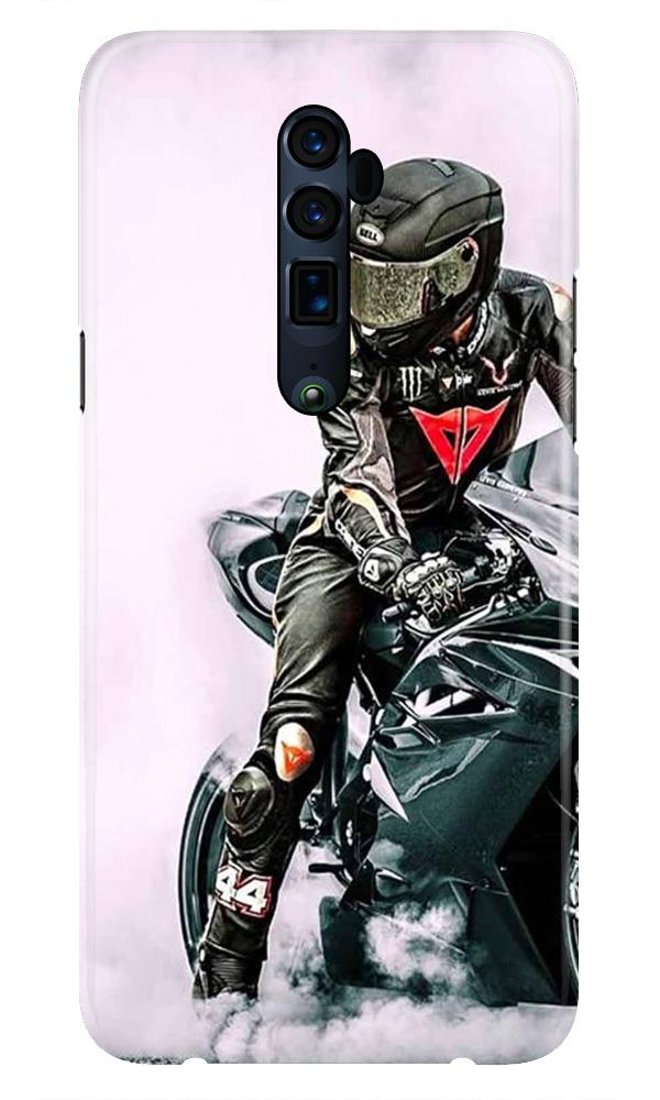 Biker Mobile Back Case for Oppo Reno 10X Zoom  (Design - 383)