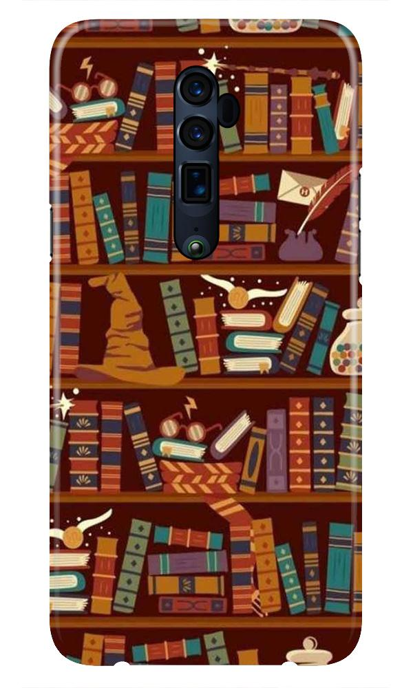 Book Shelf Mobile Back Case for Oppo Reno 10X Zoom  (Design - 390)