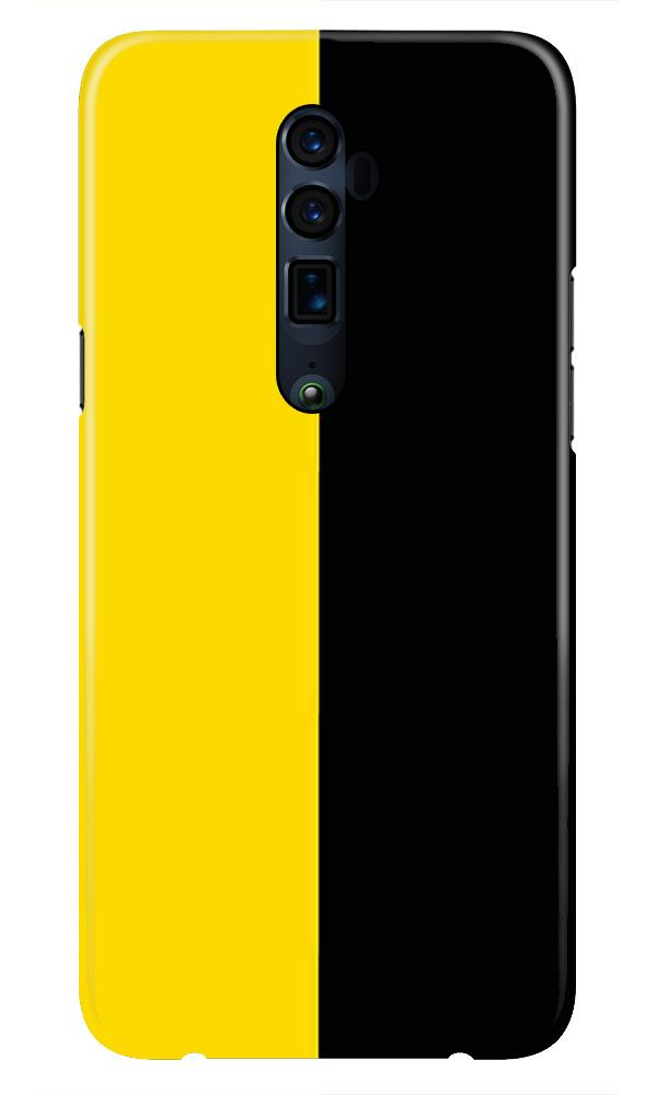 Black Yellow Pattern Mobile Back Case for Oppo Reno 10X Zoom  (Design - 397)