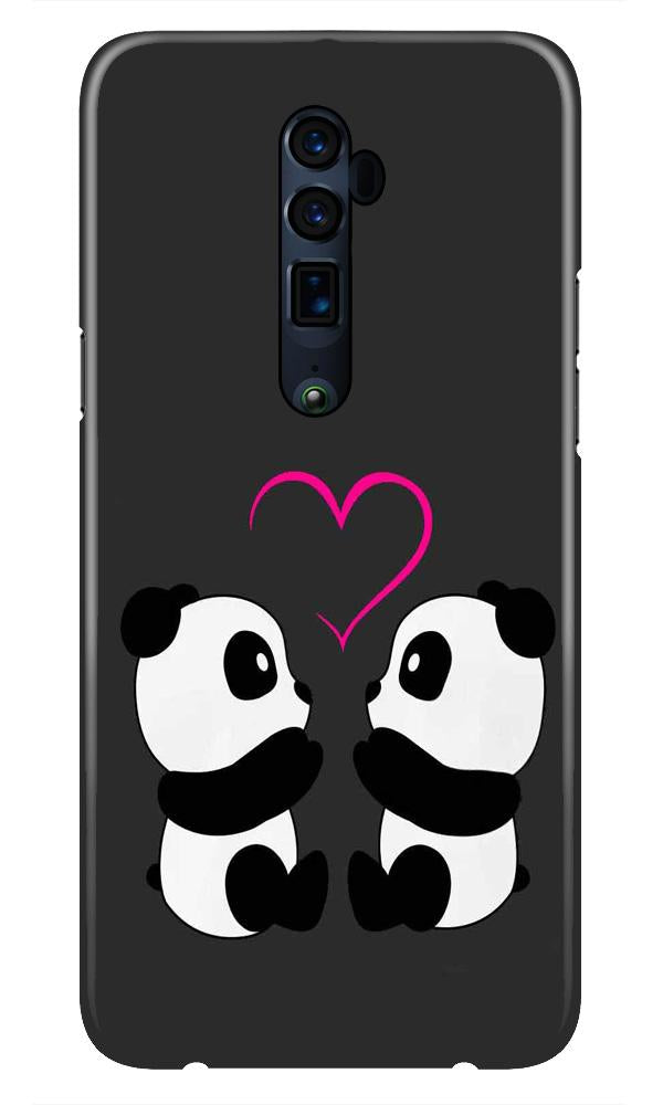 Panda Love Mobile Back Case for Oppo Reno 10X Zoom  (Design - 398)