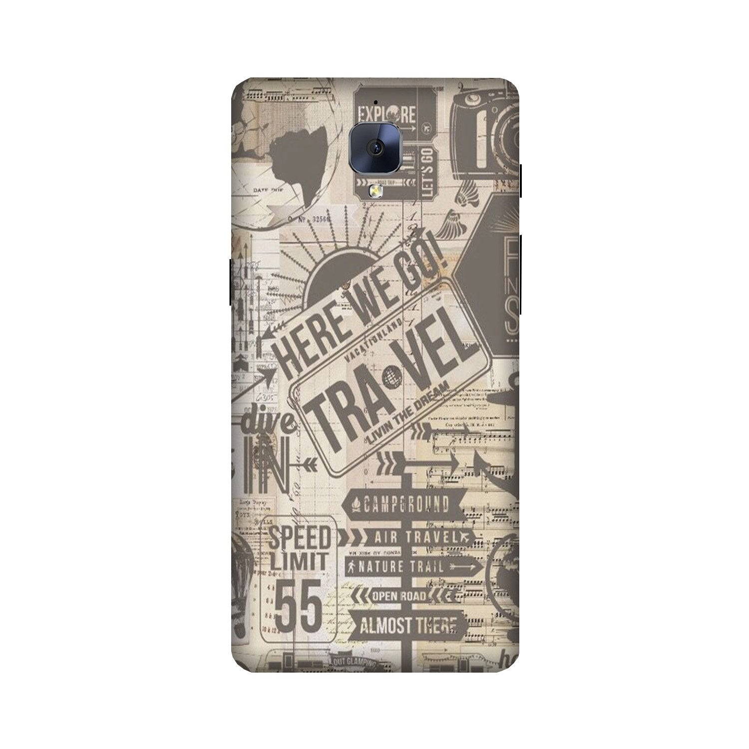 Travel Case for OnePlus 3/ 3T  (Design - 104)