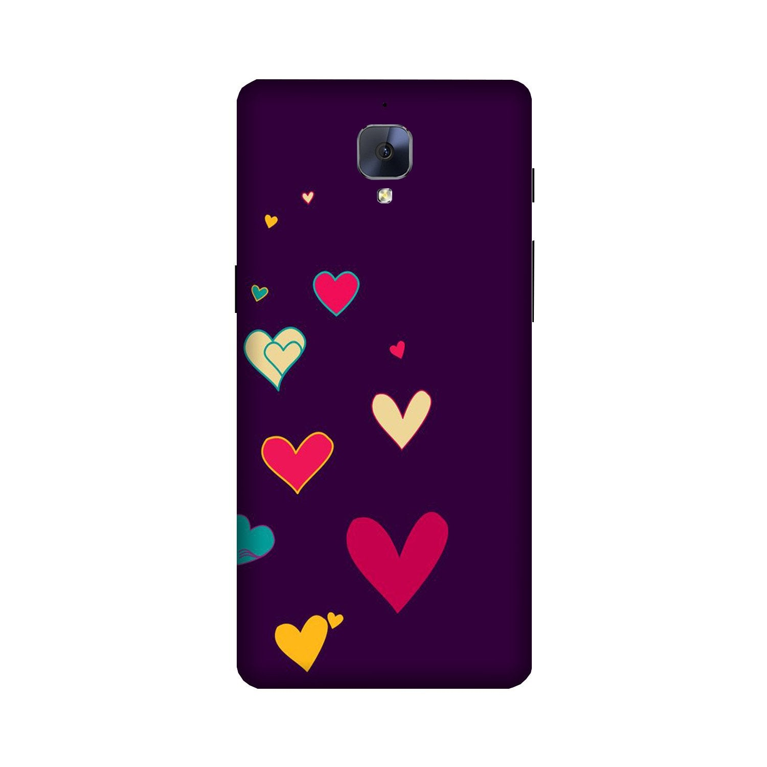 Purple Background Case for OnePlus 3/ 3T  (Design - 107)