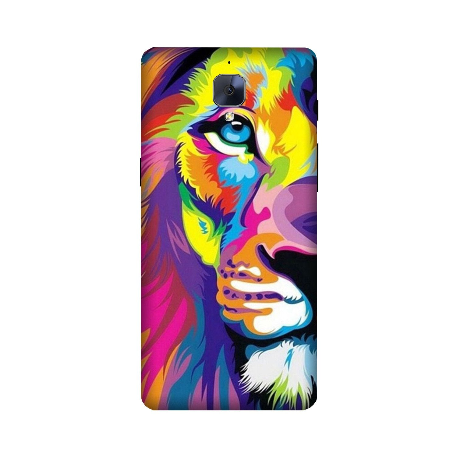 Colorful Lion Case for OnePlus 3/ 3T  (Design - 110)