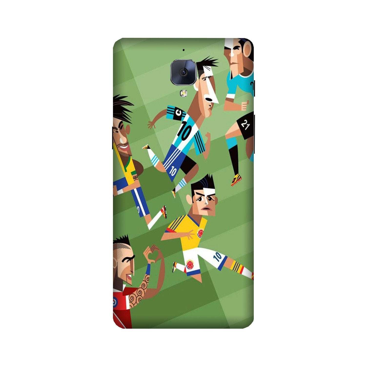 Football Case for OnePlus 3/ 3T  (Design - 166)