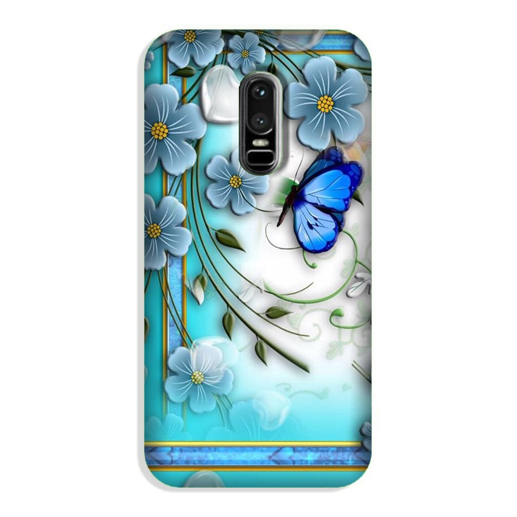 Blue Butterfly Case for OnePlus 6