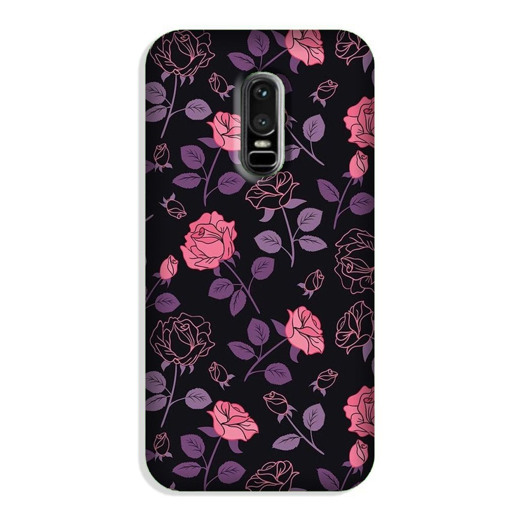 Rose Black Background Case for OnePlus 6