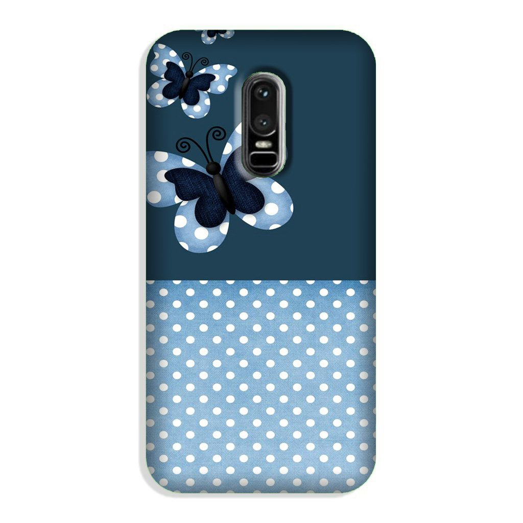 White dots Butterfly Case for OnePlus 6