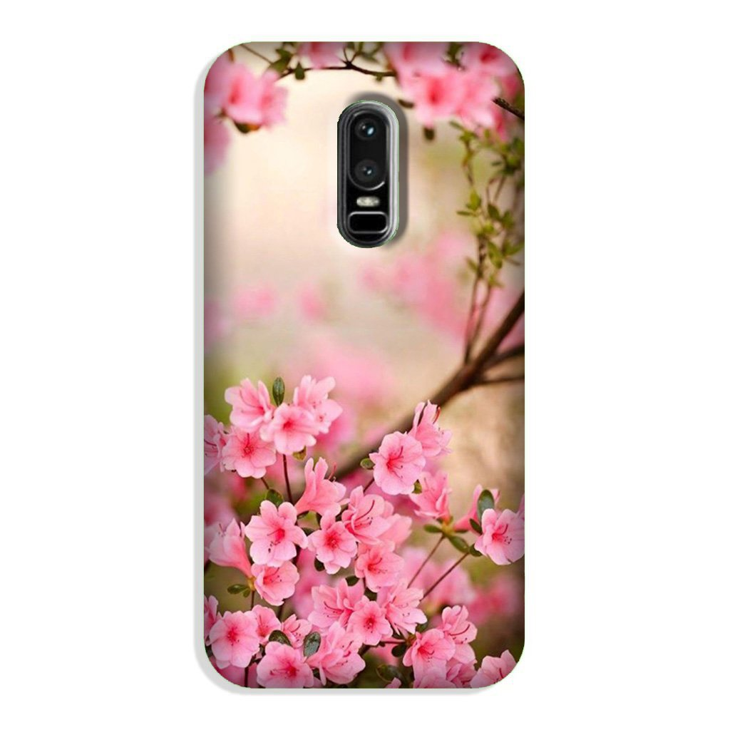 Pink flowers Case for OnePlus 6