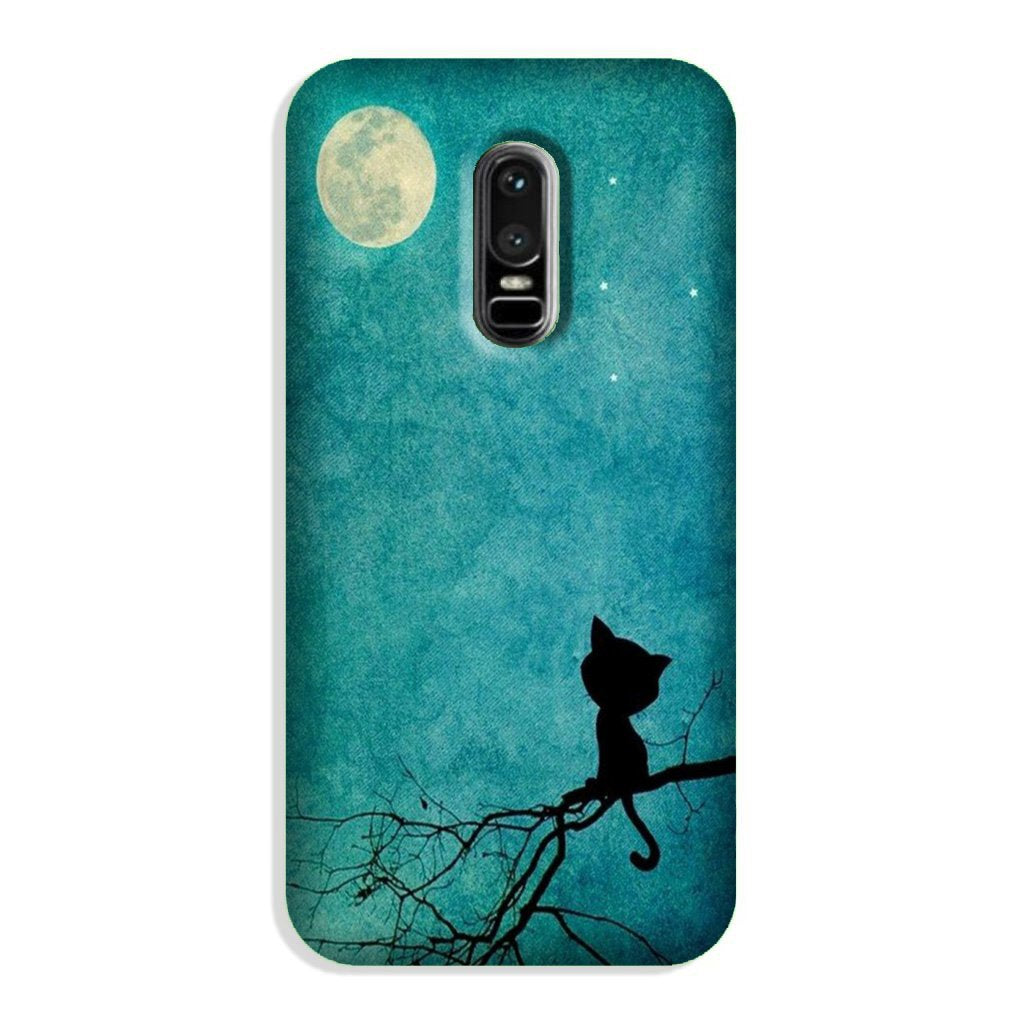 Moon cat Case for OnePlus 6