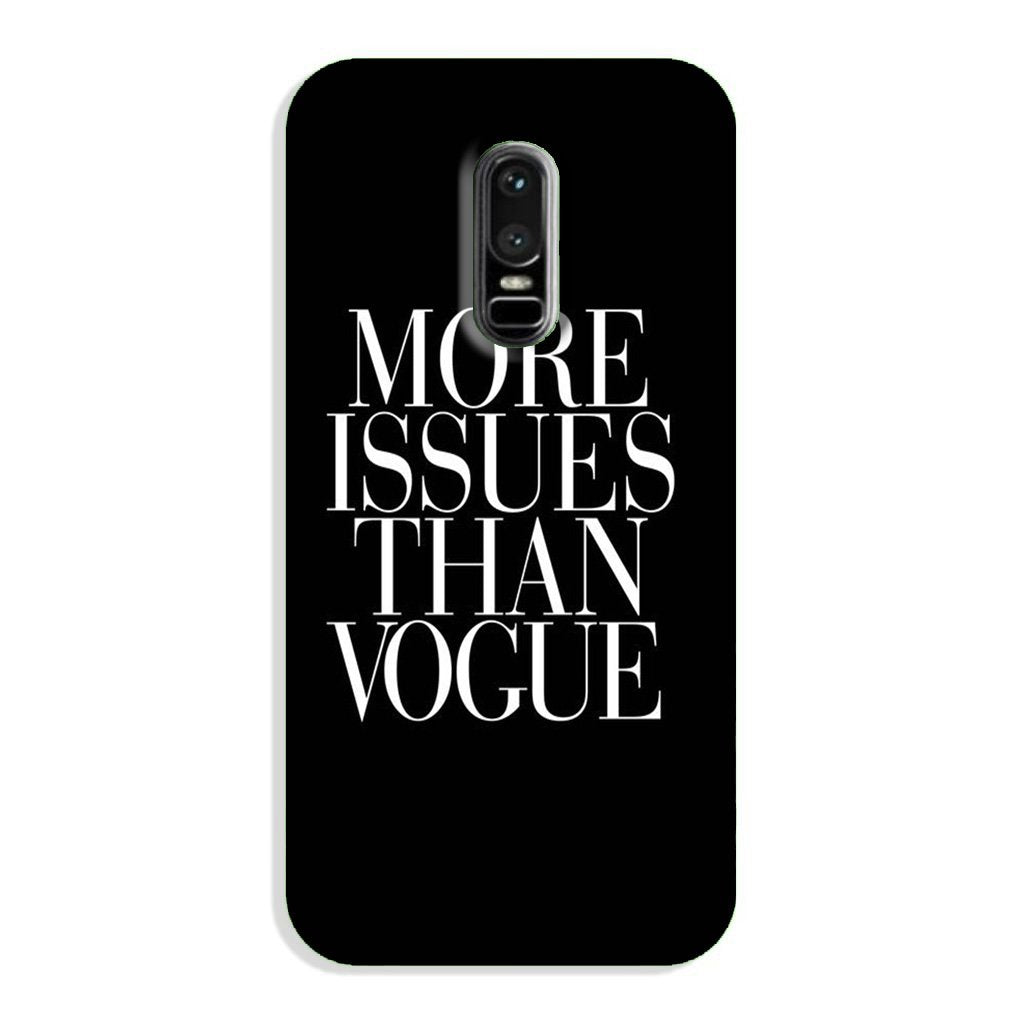 More Issues than Vague Case for OnePlus 6
