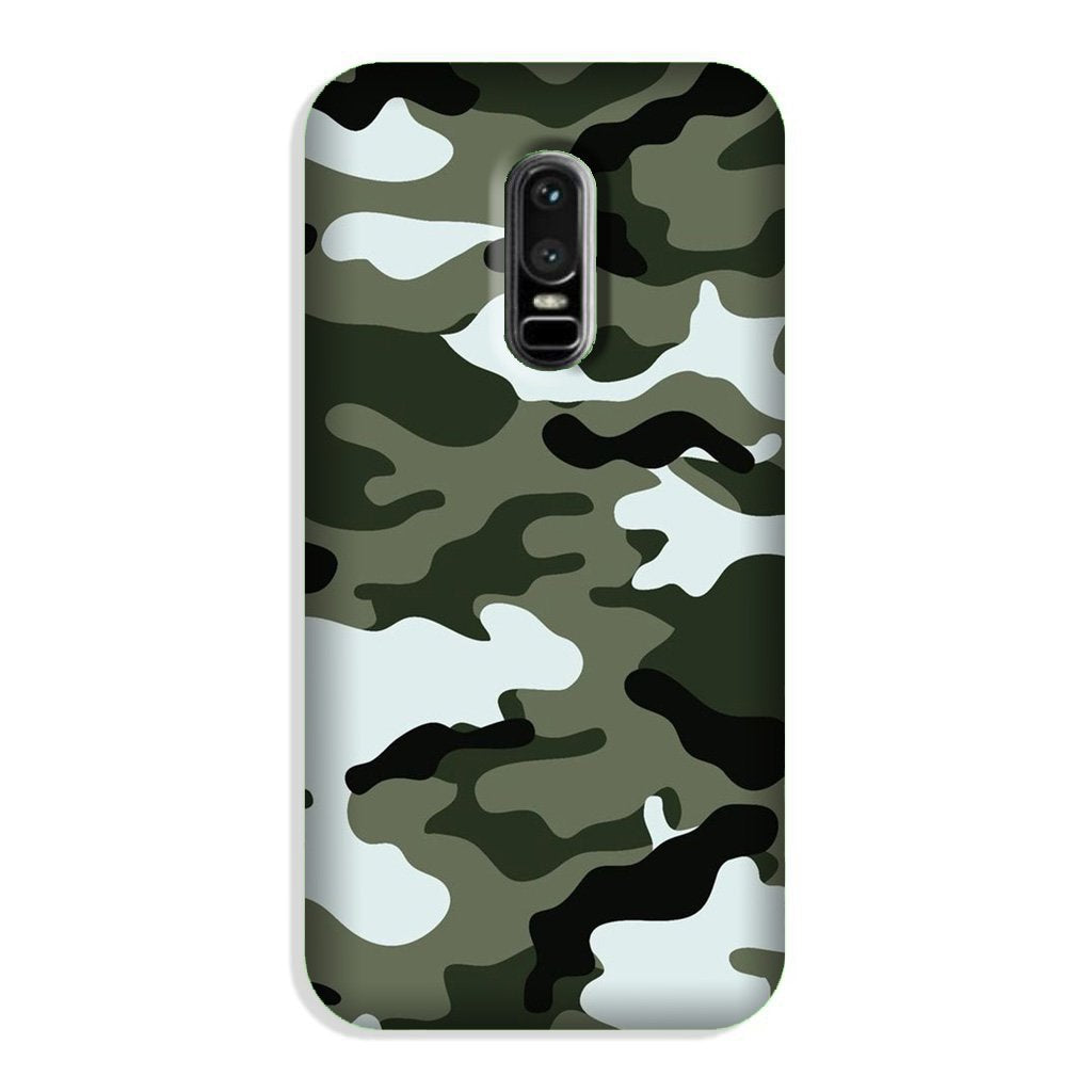 Army Camouflage Case for OnePlus 6  (Design - 108)