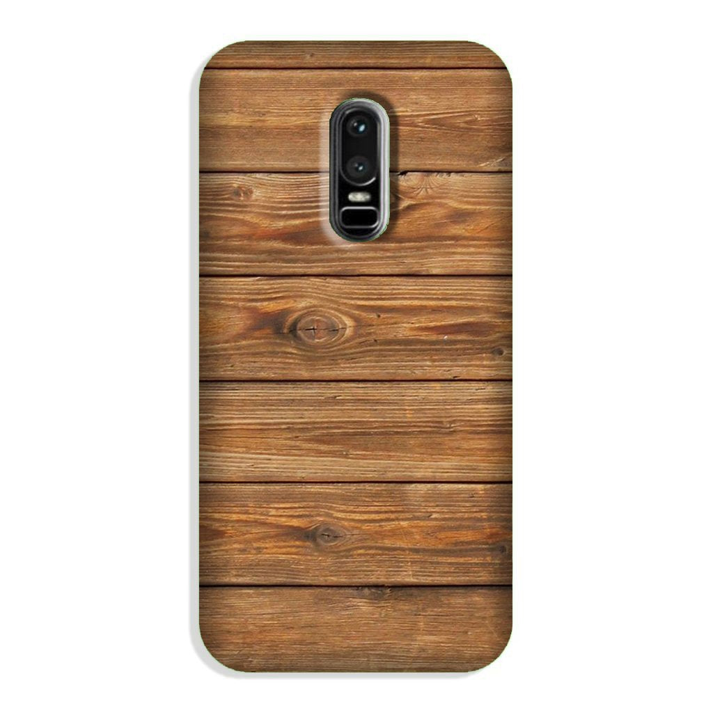 Wooden Look Case for OnePlus 6  (Design - 113)