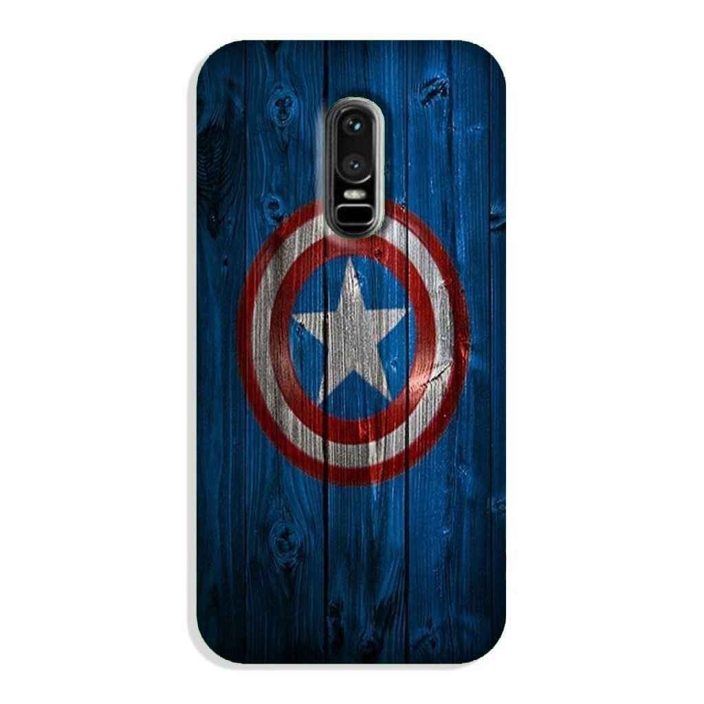 Captain America Superhero Case for OnePlus 6  (Design - 118)