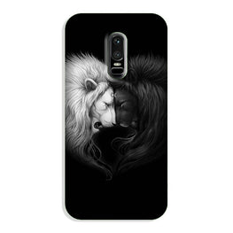 Dark White Lion Case for OnePlus 6  (Design - 140)