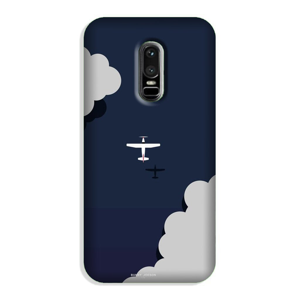 Clouds Plane Case for OnePlus 6 (Design - 196)