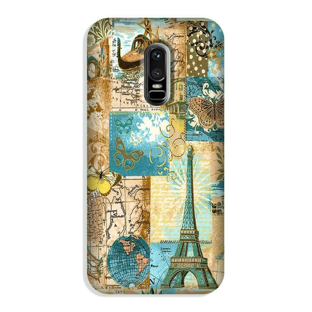 Travel Eiffel Tower  Case for OnePlus 6 (Design No. 206)