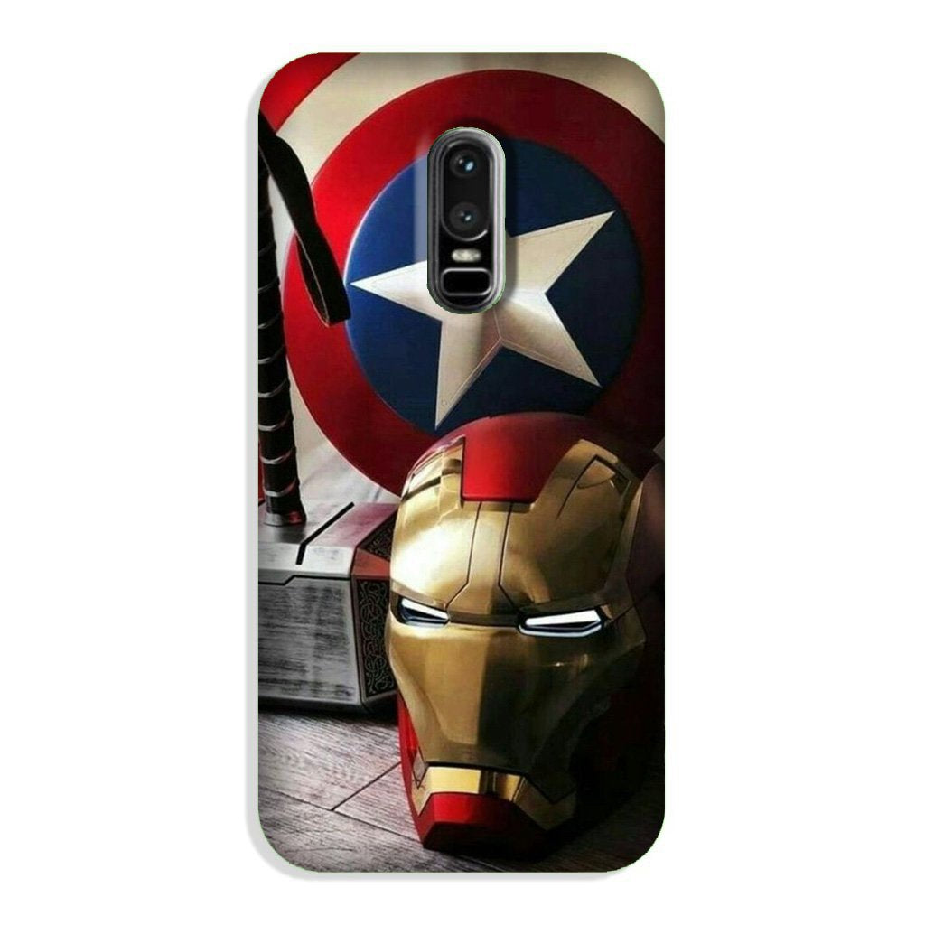 Ironman Captain America Case for OnePlus 6 (Design No. 254)