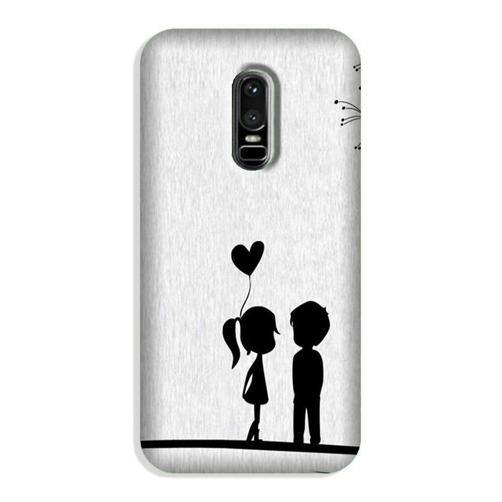 Cute Kid Couple Case for OnePlus 6 (Design No. 283)