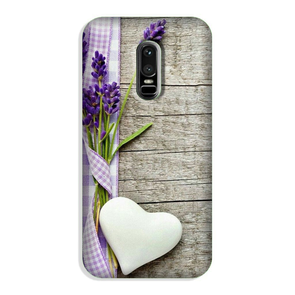 White Heart Case for OnePlus 6 (Design No. 298)