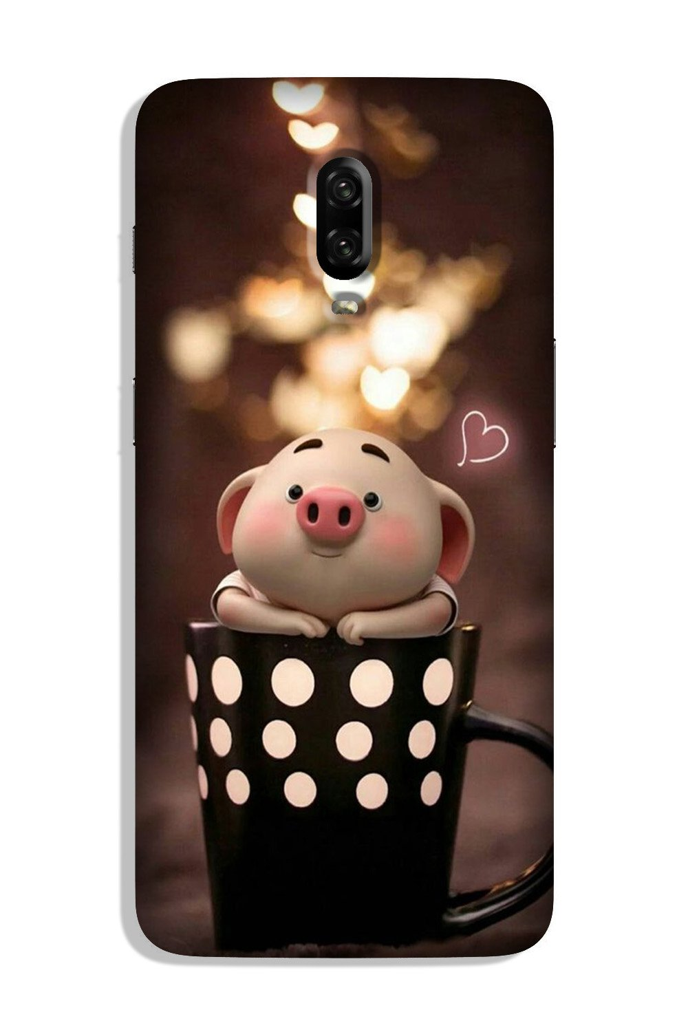 Cute Bunny Case for OnePlus 6T (Design No. 213)