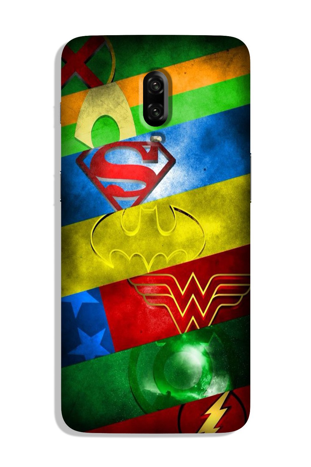 Superheros Logo Case for OnePlus 6T (Design No. 251)
